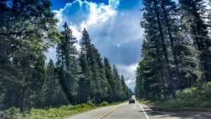The road to Lassen Volcanic National Park