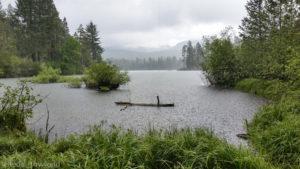 Manzanita Lake downpour