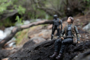 Jyn and K-2SO next to the river - @teddi_toyworld