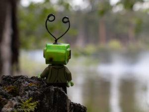 Ray Tenny looks over the lake - @teddi_toyworld